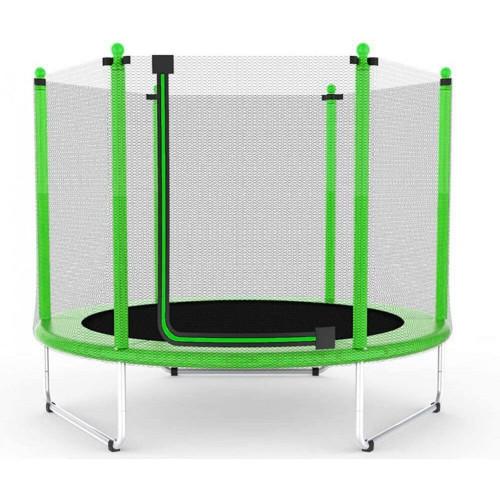 Батут Atleto 152 см c сеткой зеленый (21000111)
