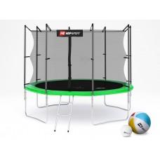 Hop-Sport 10ft (305cm) green с внутренней сеткой (4 ноги)