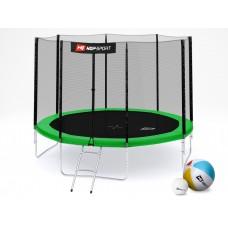Hop-Sport 10ft (305cm) green с внешней сеткой (4 ноги)
